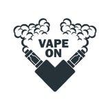 Emblema del vector del cigarrillo electrónico Fotos de archivo