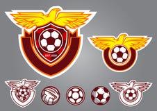 emblema del vector del logotipo del fútbol del pájaro Foto de archivo libre de regalías