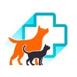 Emblema del veterinario di vettore Immagini Stock Libere da Diritti