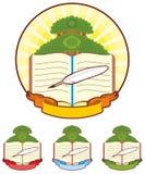 Emblema dell'albero del libro Fotografia Stock Libera da Diritti