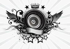 Emblema dell'altoparlante Immagini Stock