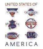 Emblema dell'America Fotografia Stock