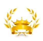 Emblema dell'annata, oro Fotografie Stock Libere da Diritti