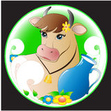Emblema dell'azienda agricola Immagini Stock