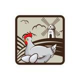 Emblema dell'azienda agricola di pollo Illustrazione di vettore Fotografia Stock Libera da Diritti