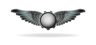Emblema dell'estratto di stile di Steampunk Fotografie Stock