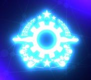 Emblema dell'industria pesante immagini stock libere da diritti