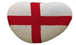 Emblema dell'Inghilterra dipinto su una pietra del messaggio Fotografia Stock Libera da Diritti