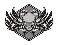 Emblema dell'ingranaggio del cranio 3 Fotografia Stock Libera da Diritti