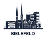 Emblema dell'orizzonte di Bielefeld Immagine Stock
