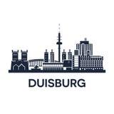 Emblema dell'orizzonte di Duisburg Fotografia Stock Libera da Diritti