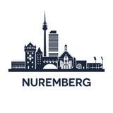 Emblema dell'orizzonte di Norimberga Fotografia Stock Libera da Diritti
