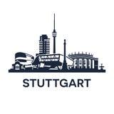 Emblema dell'orizzonte di Stuttgart Immagini Stock