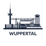 Emblema dell'orizzonte di Wuppertal Fotografia Stock Libera da Diritti