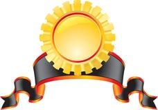 Emblema dell'oro Fotografie Stock