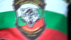 Emblema dell'unione militare bulgara stock footage