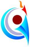 Emblema dell'uomo di sport Fotografia Stock