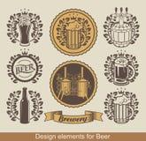 Emblema della birra Fotografia Stock Libera da Diritti