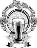 Emblema della birra Fotografie Stock Libere da Diritti