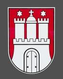 Emblema della città di Amburgo Fotografie Stock