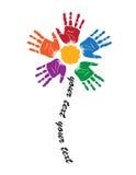 Emblema della mano illustrazione di stock