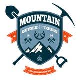 Emblema della montagna Fotografie Stock