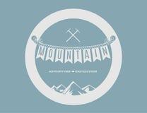 Emblema della montagna Fotografia Stock