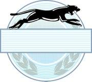 Emblema della pantera Immagini Stock Libere da Diritti