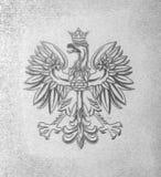 Emblema della Polonia - aquila con la corona Fotografia Stock