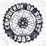 Emblema della ruota del motociclo Immagini Stock