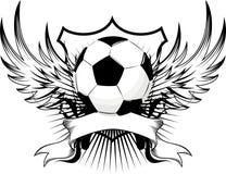 Emblema della sfera di calcio illustrazione di stock