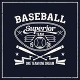 Emblema della squadra di baseball dell'istituto universitario Fotografia Stock