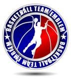 Emblema della squadra di pallacanestro Immagine Stock Libera da Diritti