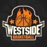 Emblema della squadra di pallacanestro illustrazione di stock