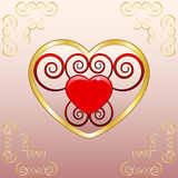 Emblema di amore Fotografia Stock