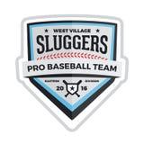 Emblema di baseball Fotografie Stock