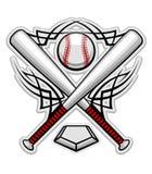 Emblema di baseball di colore Immagini Stock Libere da Diritti