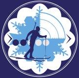 Emblema di biathlon Fotografie Stock Libere da Diritti