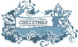 Emblema di Buon Natale Fotografie Stock Libere da Diritti