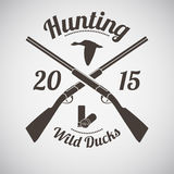 Emblema di caccia Fotografia Stock