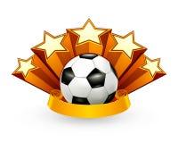 Emblema di calcio illustrazione vettoriale