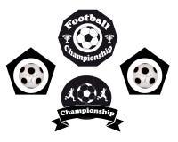 Emblema di calcio Immagini Stock