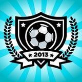 Emblema di calcio di vettore illustrazione di stock
