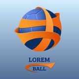 Emblema di calcio Modello di vettore della palla di sport Fotografia Stock