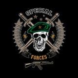 Emblema di colore delle forze speciali Immagini Stock
