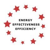 Emblema di energia Fotografia Stock