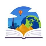 Emblema di geografia illustrazione di stock
