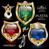 Emblema di gioco del calcio Immagine Stock