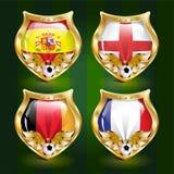 Emblema di gioco del calcio Immagini Stock Libere da Diritti
