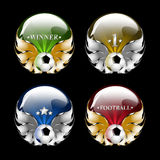 Emblema di gioco del calcio di vettore Fotografia Stock Libera da Diritti